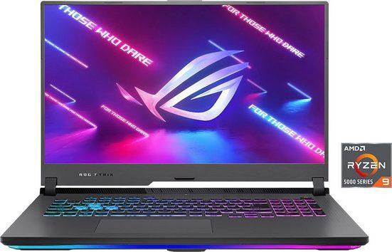 Asus G713QM-HX174T Gaming-Notebook (43,9 cm/17,3 Zoll, AMD Ryzen 9, GeForce RTX 3060, 1000 GB SSD, Kostenloses Upgrade auf Windows 11, sobald verfügbar)