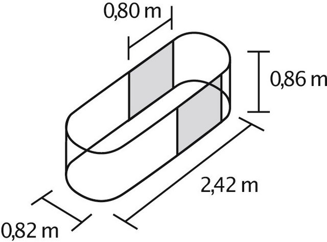 Vitavia Hochbeetverlängerung Stretched, B/T/H: 80/80/86 cm, rubinrot