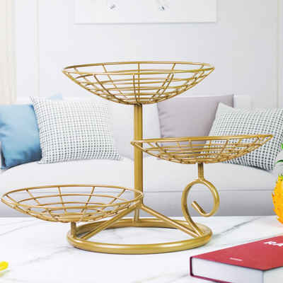 AdelDream Obstschale »Fruit Bowl Creative Worktop Ceramic Fruit Stand, Table Decoration Fruit Basket«