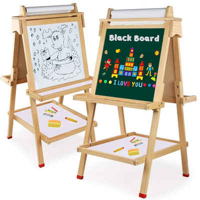 Arkmiido Standtafel »TB110«, (Kinder Staffelei aus Holz, mit Reichliches Zubehör), Multifunktions, zweiseitig