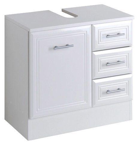 HELD MÖBEL Waschbeckenunterschrank »Neapel« Breite 60 cm, mit Hochglanzfronten und eleganter Fräsung