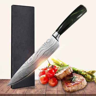 Home safety Kochmesser »Küchenmesser 20cm Chefmesser Universalmesser aus hochwertigem Carbon Edelstahl«, aus Kohlenstoffstahl