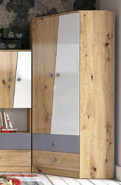 Feldmann-Wohnen Eckkleiderschrank »NERO« (Kleiderschrank, Schrank) Stellmaße: 87 cm x 87 cm, Höhe: 190 cm