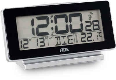 ADE Funkwecker »CK 1703« digitaler Funk-Wecker/-Uhr mit Temperatur- und Wochentag-Anzeige und blauer Display-Beleuchtung, optimal als Tischuhr