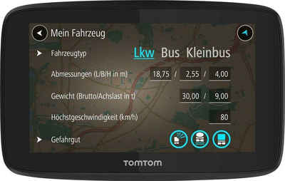 TomTom »GO Professional 520« LKW-Navigationsgerät (Europa (48 Länder), inklusive lebenslanger Kartenupdates)