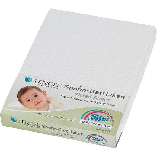 Bettlaken »Spannbettlaken TENCEL®, weiß, 70 x 140 cm«, Alvi®