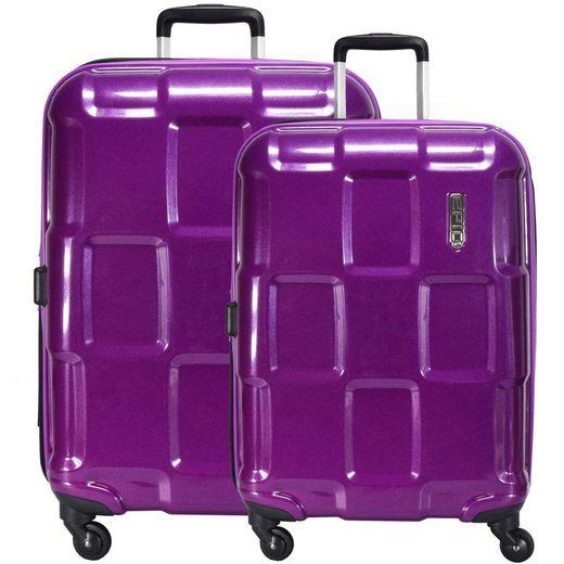 EPIC Trolleyset »Crate ex«, 4 Rollen, (2-teilig), Polycarbonat