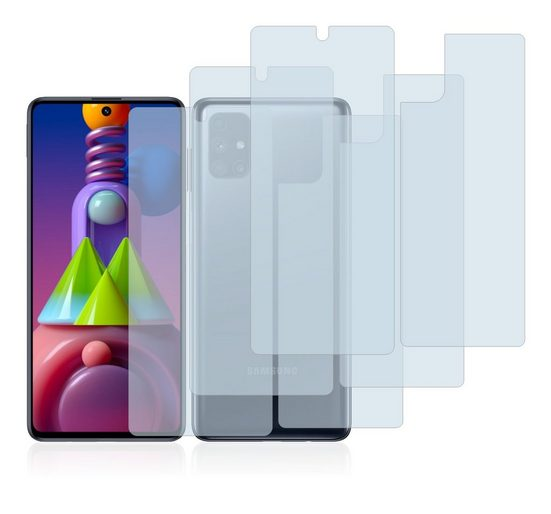 BROTECT Schutzfolie »Panzerglasfolie für Samsung Galaxy M51 (Vorder + Rückseite)«, (3 Stück), Schutzglas Glasfolie klar