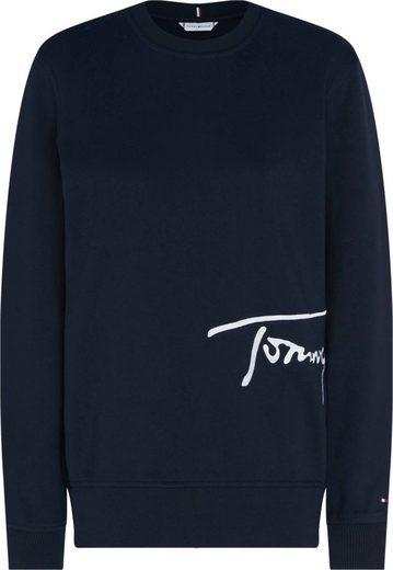 TOMMY HILFIGER Sweatshirt »REGULAR C-NK SCRIPT SWEATSHIRT« mit Tommy Hilfiger Logo-Schriftzug
