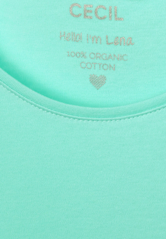 Cecil Rundhalsshirt Lena Basic-Shirt mit Halbarm