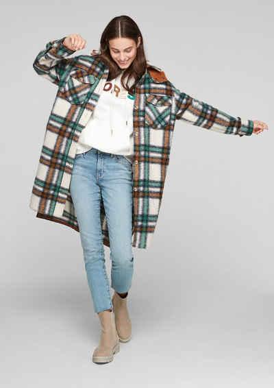 s.Oliver 7/8-Jeans »Slim: Denim mit Smiley®-Motiv« Waschung, Stickerei