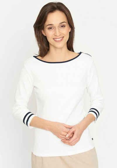 Sea Ranch T-Shirt aus geripptem Jersey mit Kontrastdetails