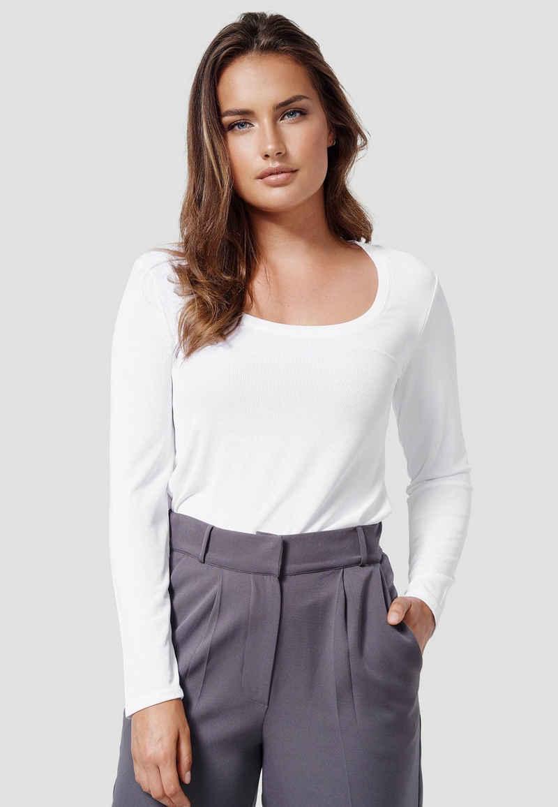 Cotton Candy Langarmshirt »WINONA« mit leichtem Glanz