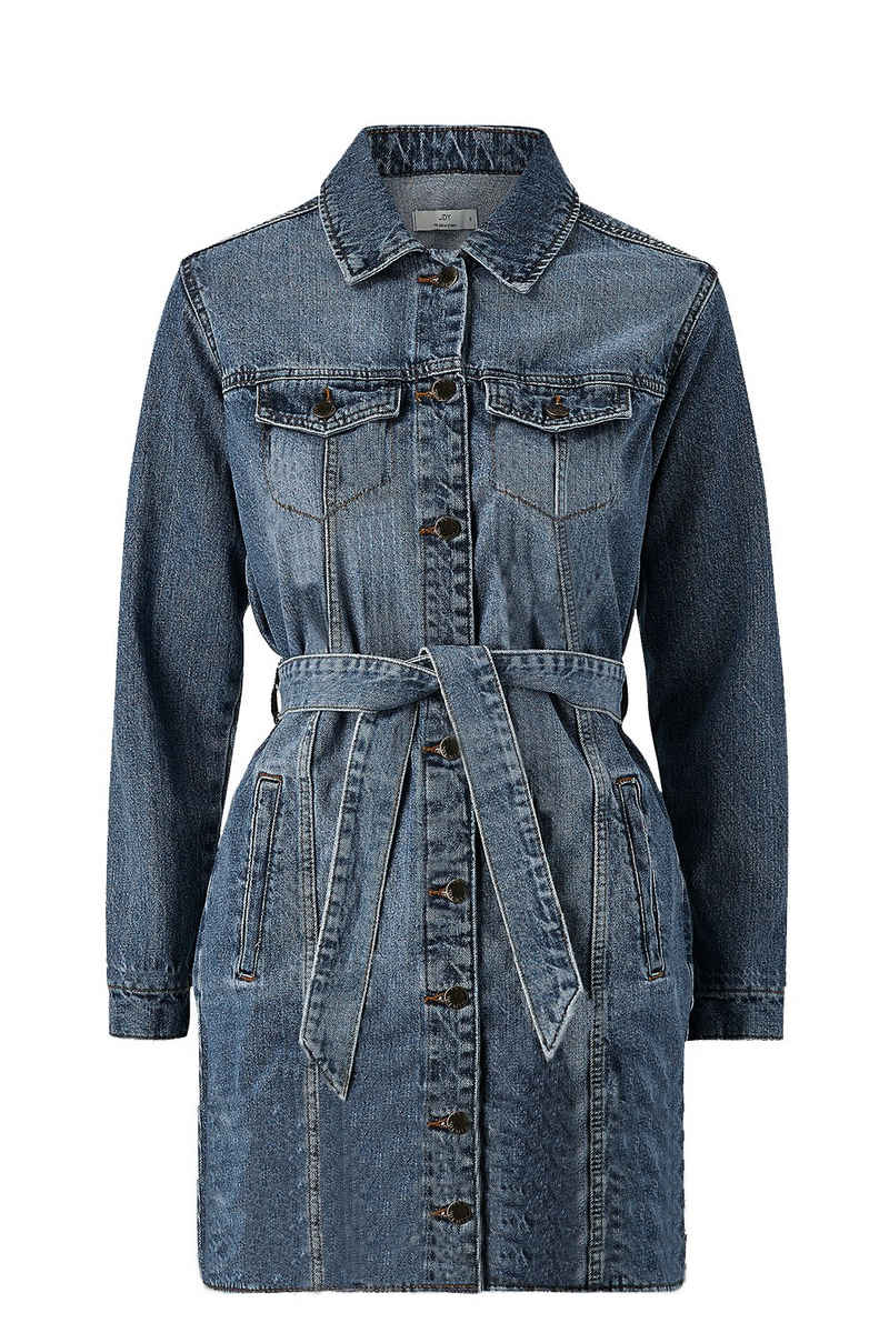 JACQUELINE de YONG Shirtkleid »3754« JDY Damen Jeans Kleid Midi Denim Dress Coat JDYSANSA LIFE mit Gürtel