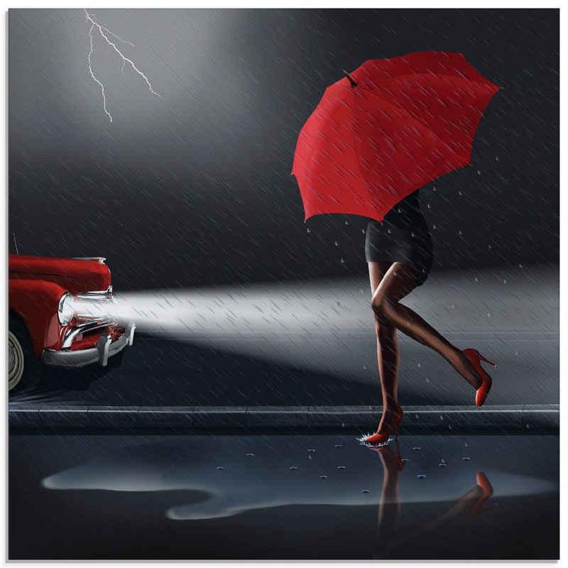 Artland Glasbild »Verregneter Tag«, Frau (1 Stück)