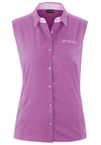 Maier Sports Funktionsbluse »Amira« Sommerlich-luftige, ärmellose Outdoorbluse mit Brusttasche