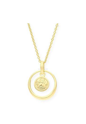 JuwelmaLux Kettenanhänger »Taufring 333er 8 Karat Gold mit Saphir«