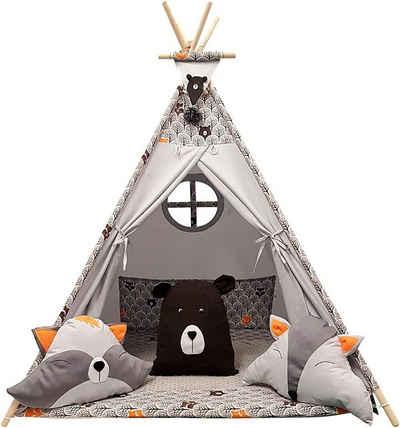 Welt der Träume Spielzelt »Tipi, Kinder Spielzelt, Teepee, Zelt mit Fenster, Indianerzelt, Tipizelt, Spielset für Kinder VERSCHIEDENE MUSTER«