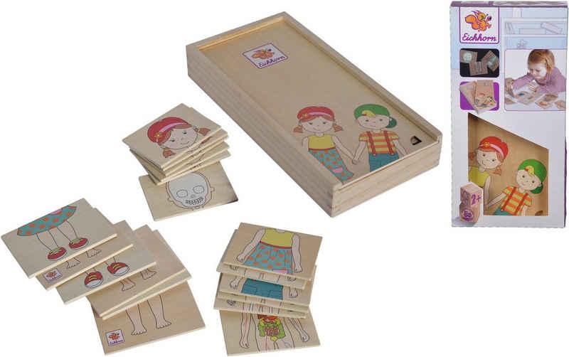 Eichhorn Puzzle »Körperpuzzle mit Holzbox«, 18 Puzzleteile, FSC®-Holz aus gewissenhaft bewirtschafteten Wäldern