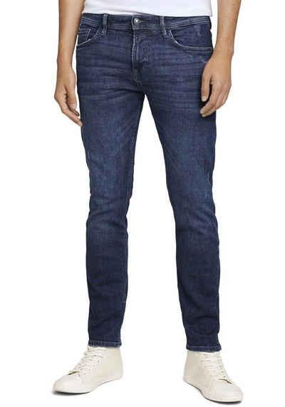 TOM TAILOR Denim 5-Pocket-Jeans mit Leder-Badge