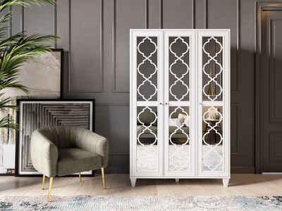 Leonique Kleiderschrank »Jesica« mit Spiegelfront und schön ausgefrästen Profilen, in deversen Breiten