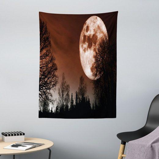 Wandteppich »aus Weiches Mikrofaser Stoff Für das Wohn und Schlafzimmer«, Abakuhaus, rechteckig, Mond Abstrakt Farbiger Wald