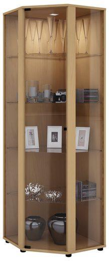 VCM Standvitrine »Sammel Stand Eckvitrine Holz Glas Venedig«