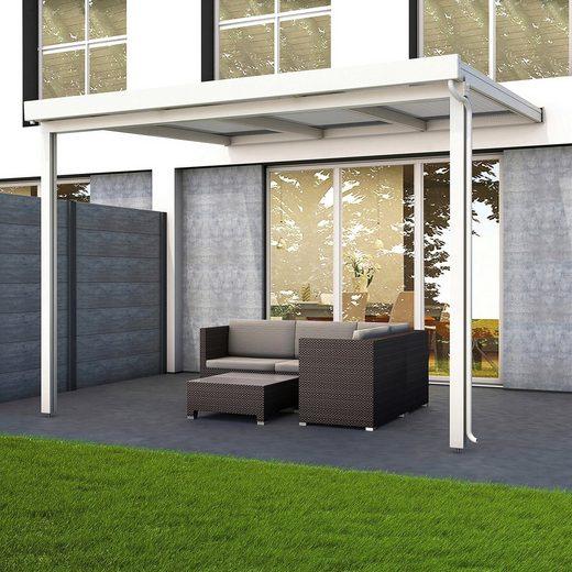 GUTTA Terrassendach »Premium«, BxT: 309x306 cm, Dach Polycarbonat gestreift weiß
