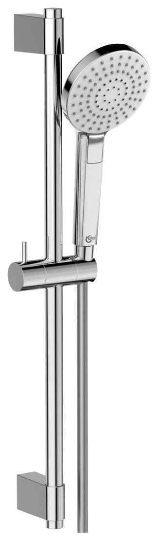 Ideal Standard Brausegarnitur »Ideal Rain EVO«, Höhe 60 cm, 3 Strahlart(en), Set, 3 tlg., 600mm Brausestange, Handbrause mit 3 Strahlarten