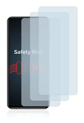 Savvies Schutzfolie »Panzerglas für Xiaomi Redmi Note 9 Pro 5G«, (3 Stück), Schutzglas Echtglas 9H klar