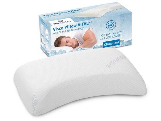 Nackenstützkissen, »VITALice«, Third of Life, (1-tlg), Kühlendes Kopfkissen mit ClimaCool®-Bezug