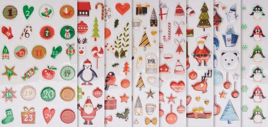 maildor Sticker »Weihnachten«, 8 Blatt