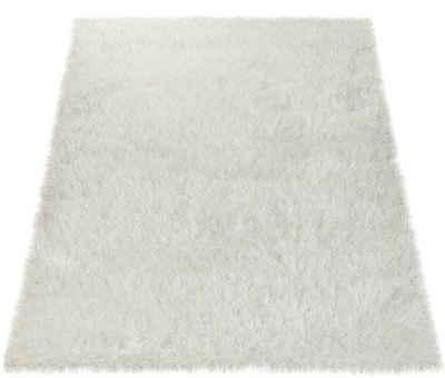 Hochflor-Teppich »Glamour 300«, Paco Home, rechteckig, Höhe 70 mm, Shaggy mit weichem Glanz Garn, Uni Farben, Wohnzimmer