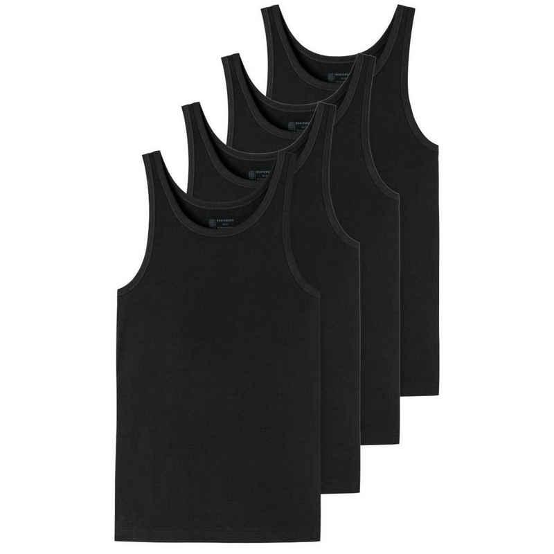 Schiesser Unterhemd »4er-Pack - 95/5 - Organic Cotton« (4 Stück), Unterhemd - Tiefer Rundhalsausschnitt, Perfekter Sitz, Elastische Single-Jersey Qualität
