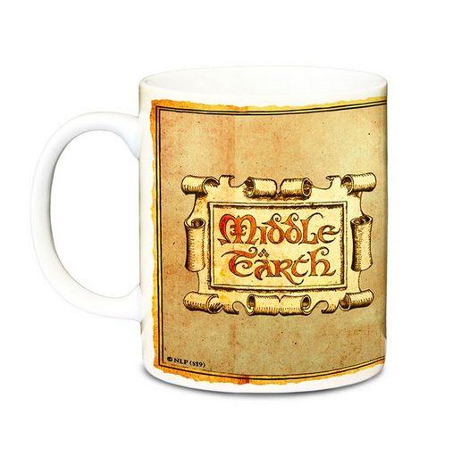 LOGOSHIRT Tasse »Der Hobbit - Mittelerde«, Keramik, mit lizenziertem Originaldesign