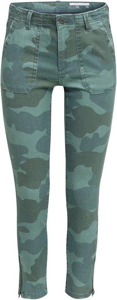 edc by esprit -  Röhrenhose im Camouflage-Muster mit Saumzippern