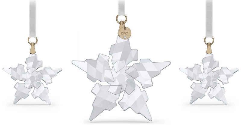 Swarovski Weihnachtsfigur »Annual Edition 2021 Ornament Set, 5583966« (Set, 3 Stück), Swarovski® Kristall