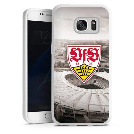 DeinDesign Handyhülle »VfB Stadion grau« Samsung Galaxy S7, Hülle VfB Stuttgart Offizielles Lizenzprodukt Stadion
