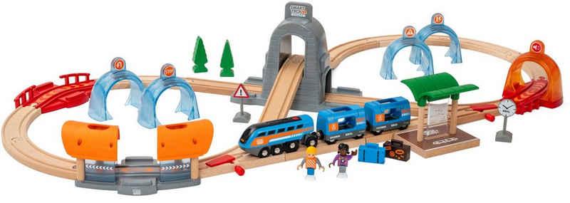 BRIO® Spielzeug-Eisenbahn »Smart Tech Sound Action Tunnel Reisezug«, (Set), FSC®-Holz aus gewissenhaft bewirtschafteten Wäldern