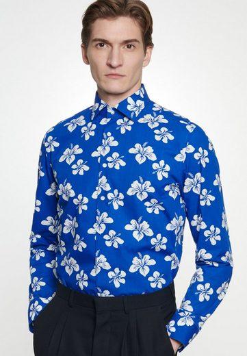 Schlussverkauf seidensticker Businesshemd »Slim« Slim Langarm Kentkragen Floral