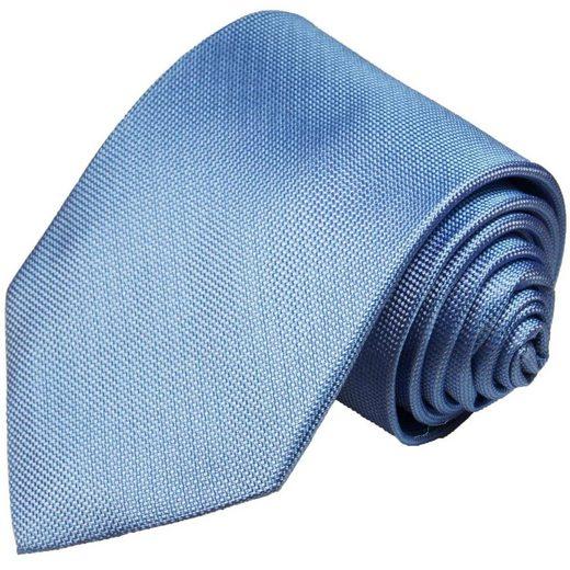 Paul Malone Krawatte »Designer Seidenkrawatte Herren Schlips modern uni 100% Seide« Schmal (6cm), blau 898