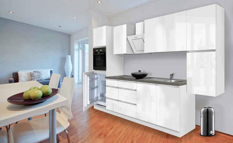 RESPEKTA Küchenzeile »Boston«, mit E-Geräten, Breite 320 cm