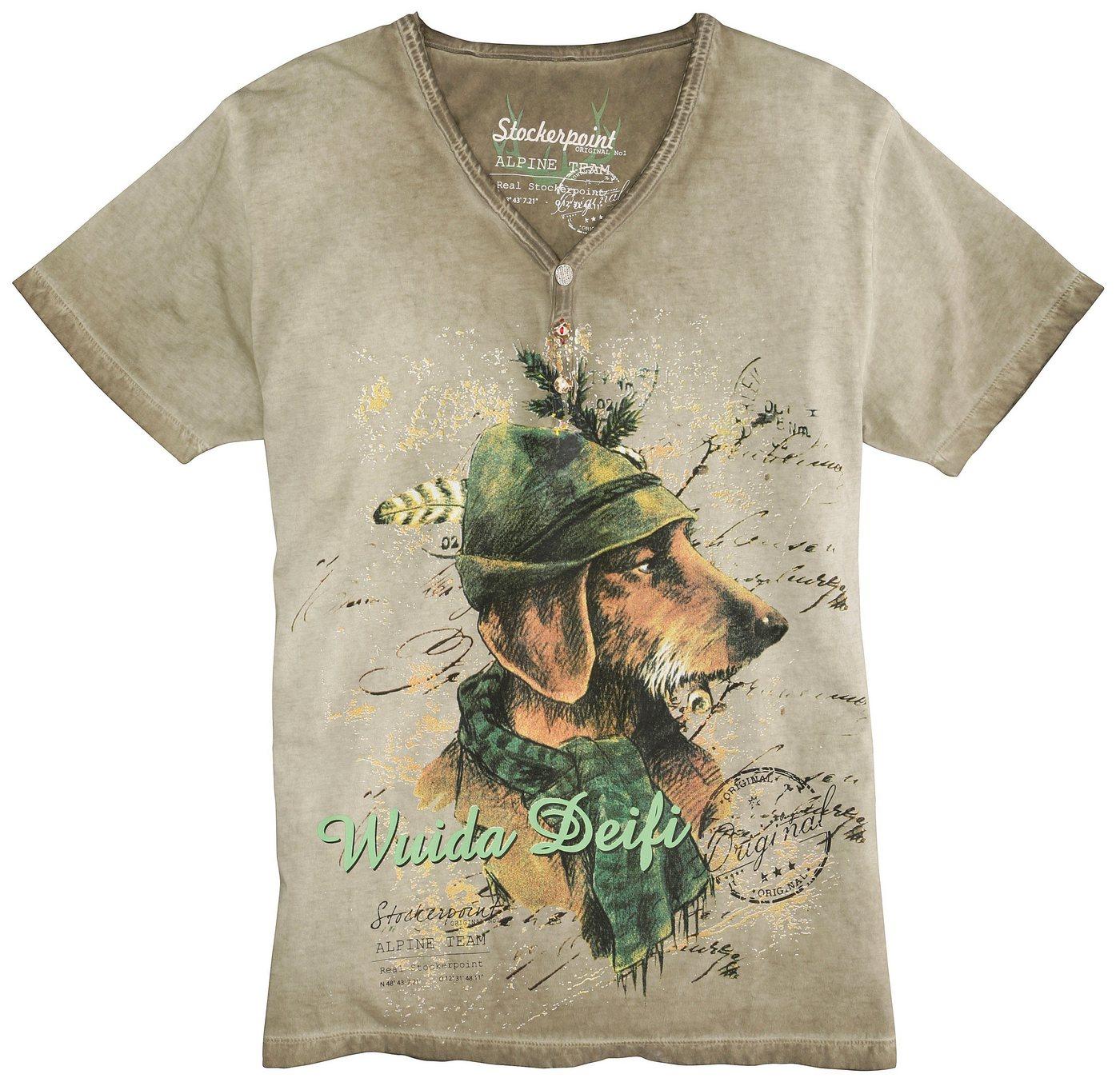 Herren Stockerpoint Trachtenshirt mit effektvollem Print  | 04251161255877