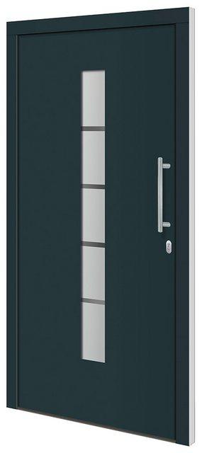 RORO TÜREN & FENSTER Aluminium-Haustür »Otto 2«| BxH: 100x200 cm| anthrazit/weiß| ohne Griff | Baumarkt > Modernisieren und Baün | RORO Türen & Fenster