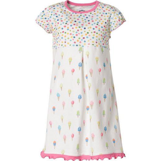 MAXIMO A-Linien-Kleid »Kinder Kleid mit Rüschenärmel«