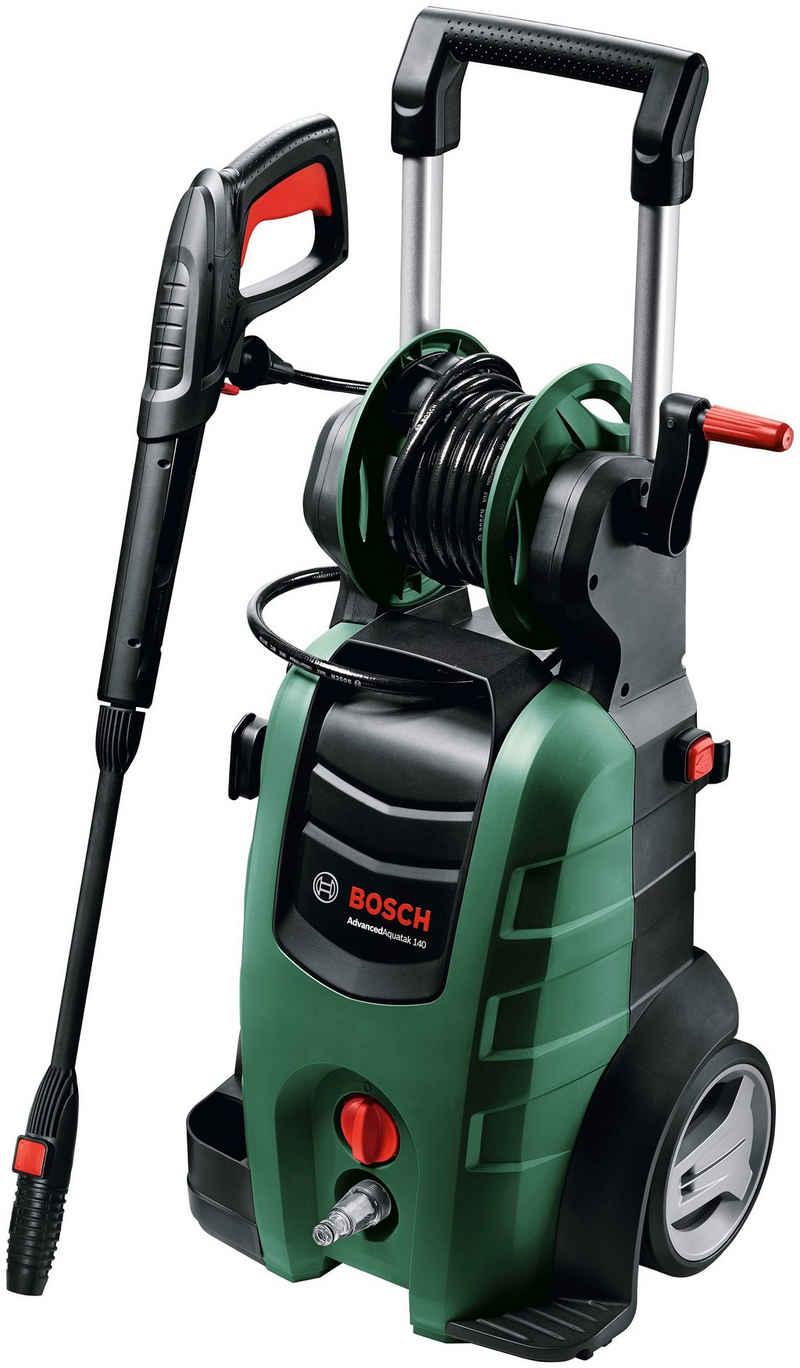 Bosch Powertools Hochdruckreiniger »AdvancedAquatak 140«, Druck max: 140 bar, Fördermenge max: 480 l/h, Inkl. Schlauch, Flachstrahldüse und Metall-Pistole