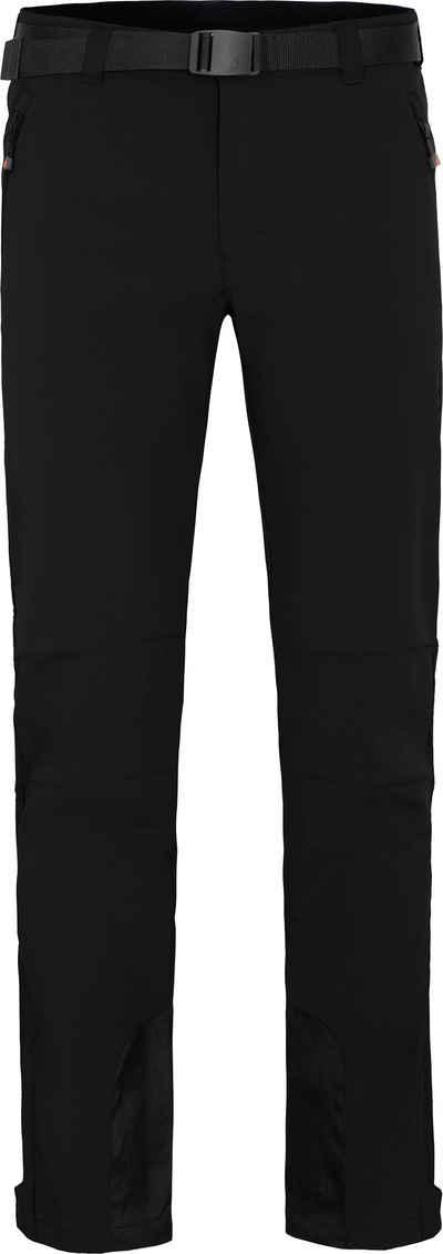 Bergson Outdoorhose »ONETREE« Herren Winter Softshellhose, winddicht, mit warmem Innenfleece, Normalgrößen, schwarz