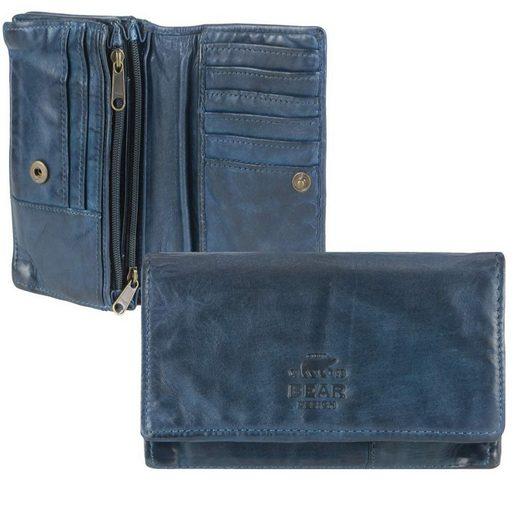 Bear Design Geldbörse »Cow Lavato«, Damenbörse, Portemonnaie, knautschig weiches Leder, 14 Kartenfächer