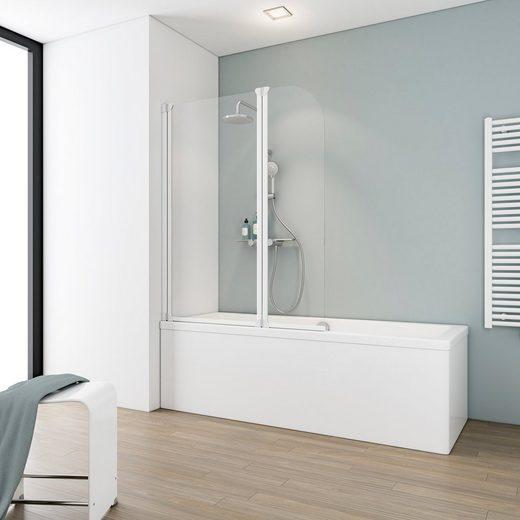 Schulte Badewannenfaltwand »Komfort«, Einscheibensicherheitsglas, (2 tlg), Breite: 115 cm
