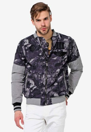 Cipo & Baxx Collegejacke in coolem Military-Style